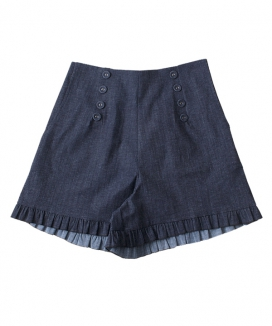 [ZEROSTREET] Denim Frill Pants