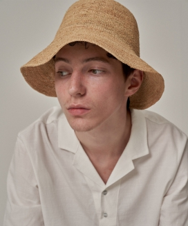 [TRIP LE SENS] NATURAL THIN WEAVING RAFFIA HAT
