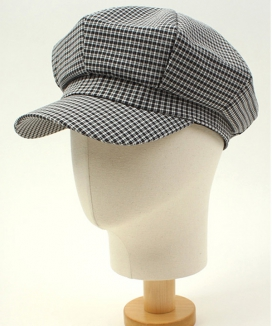 [UNIVERSAL CHEMISTRY] Small Check Newsboy Cap