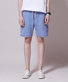 [URBANDTYPE] Denim Banding Shorts