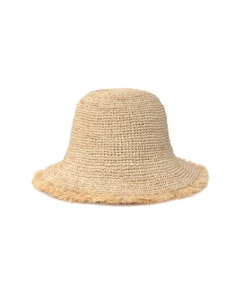 [AWESOME NEEDS] RAFFIA BUCKET HAT_CURLY
