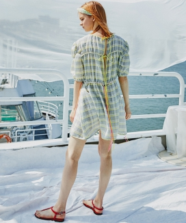 [Sorry, Too Much Love] Multi String Check Dress