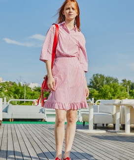 [Sorry, Too Much Love] Stripe Summer Ruffle Skirts