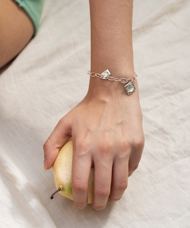[Vi/Ve] Rose Oval Chain Bracelet