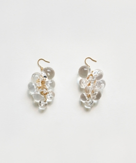 [Vi/Ve] Clear Pure Grape Earring