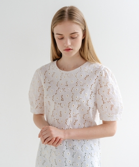 [ADDSENSE] FLOWER LACE BLOUSE