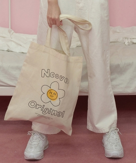 [NCOVER] Flower graphic eco bag