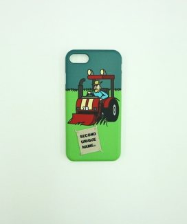 [SECOND UNIQUE NAME] SUN CASE GRAPHIC TRACTOR MAN (BEIGE TAG)