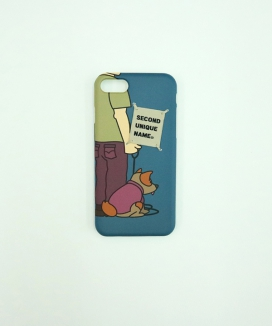 [SECOND UNIQUE NAME] SUN CASE GRAPHIC DOG MAN (BEIGE TAG)