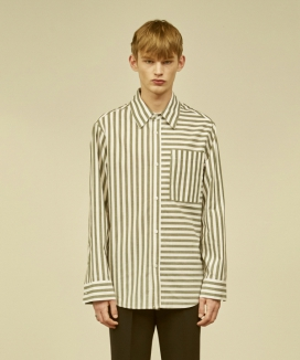 [MMH] BOLD STRIPE COTTON SHIRT