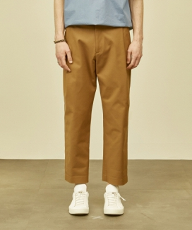 [MMH] SOLID ONE-TUCK BAGGY PANTS 2