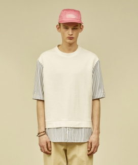 [MMH] SHIRT LAYERED T-SHIRT