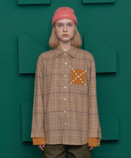 [UNALLOYED] CUFF LAYERED CHECK SHIRT