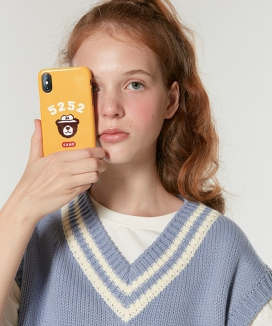 [5252] CAMPING BEAR PHONE CASE