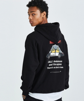 [AT THE MOMENT] Policia Oversized Hoodie