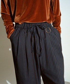 [A NOTHING] STRIPE OR PLAIN WIDE PANTS