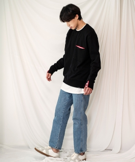 [PRAIRIE] LINE POINT OVER-FIT SWEAT SHIRTS