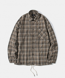 [Diamond Layla] Layla everlasting love 7colors brown check banding shirt jacket S39