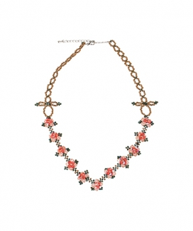 [SINOON] Champagne rose necklace
