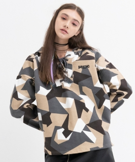 [B ABLE TWO] Camo String Hoody