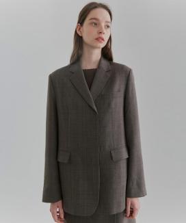 [CURRENT] Hidden Button Single Blazer