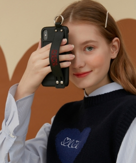 [oioi] LEATHER STRAP PHONE CASE