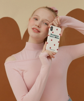 [oioi] APPLE PATTERN PHONE CASE