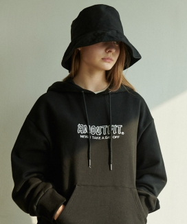 [ANOUTFIT] UNISEX SIGNATURE LOGO HEAVY HOODIE