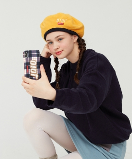 [5252 by oioi] FLAG LOGO PATCH CHECK PHONE CASE