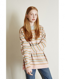 [Between A and B] MULTI STRIPE KNIT