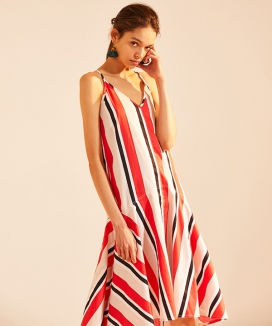 [atempo] SLIP DRESS [STRIPE]