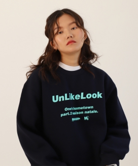 [UnLikeLook] maison logo sweat shirt