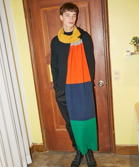 [atempo] COLOR BLOCK MUFFLER
