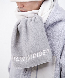 [STONYSTRIDE] TWO TONE FLEECE MUFFLER