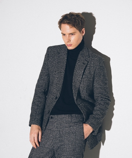 [suare] WOOL GLEN CHECK JACKET