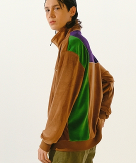 [youthbath] Cotton velour zip up track top jacket_TJ05
