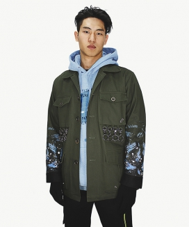 [BAEK-YA] POISON FROG FIELD JACKET