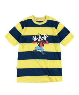[MAINBOOTH] Mickey Mouse Stripe T-shirt / ミッキーマウス ストライプティーシャツ