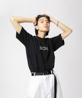 [BASIC COTTON] BCN BIZ HALF TOP / BCN ビーズハーフティーシャツ