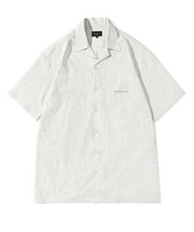 [Diamond Layla] Layla blind for love Vintage Stripe Open Collar 1/2 shirt S56 / ビンテージストライプ オープンカラーハーフシャツ S56