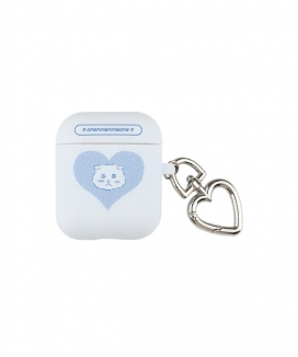 [oneninenineone] HEART CAT AIRPODS CASE / ハートキャット AirPodsケース