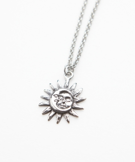 [RUNNING HIGH] SURGICAL STEEL SUN&MOON NECKLACE / サージカルスチール サン&ムーンネックレス