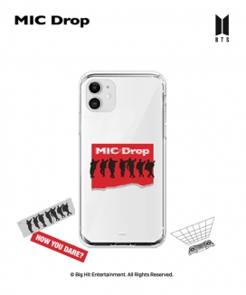 [supergoods] BTS MIC Drop theme Clear TPU Case - SILHOUETTE / BTS MIC Dropテーマ クリアソフトケース(SILHOUETTE)