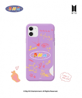 [supergoods] BTS DNA theme Card Snap Case - PURPLE / BTS DNAテーマ カード収納Phoneケース(PURPLE)