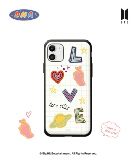 [supergoods] BTS DNA theme Door Bumper Case -LOVE / BTS DNAテーマ 耐衝撃Phoneケース(LOVE)