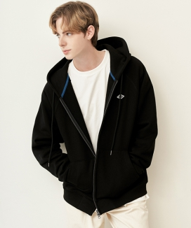 [Diamond Layla] Layla blind for love Universe Wappen Point Hood Zip-up H6 / ユニバースワッペンポイント フードジップアップ