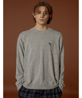 [WaiKei] Dolphin Cashmere Crew Neck Knit / ドルフィン カシミヤクルーネックニット