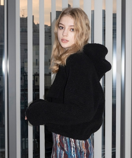 [B ABLE TWO] Teddy Zip Up Hoody / テディ ジップアップフーディ