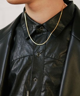 [13month] THIN FLAT SNAKE CHAIN NECKLACE / シンフラットスネーク チェーンネックレス