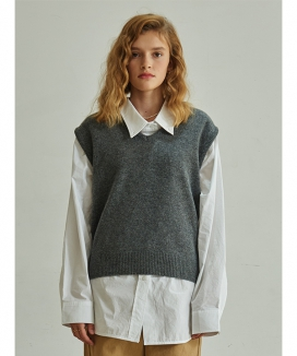 [TMO BY 13MONTH] V-NECK KNIT VEST / Vネックニットベスト
